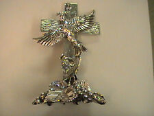 "2001 Crucifix Cross Silver Plated Isaiah 2:5 ""let us walk in the light of Lord"