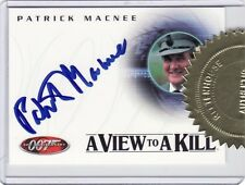 James Bond 40th Ann Patrick MacNee as Sir Godfrey Tibbett A24 Auto Card b