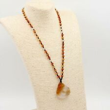 Red Agate Happy Lucky Pixiu Pi Xiu Dragon Peace Buckle Amulet Pendant Necklace