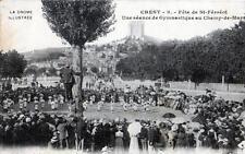 CPA 26 CREST FETE DE SAINT FERREOL UNE SCEANCE DE GYMNASTIQUE AU CHAMP DE MARS (