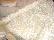 "EXTREME EXPENSIVE RARE FORTUNY 60"" 30YARDS CREAMY WHITE DAMASK DESIGN NEW"