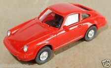 MICRO WIKING HO 1/87 PORSCHE 911 ROUGE phares peints d'origine
