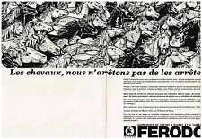 Publicité Advertising 1968 (2 pages) Garnitures Freins à disque tambour Ferodo