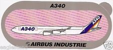 Baggage Label - Airbus - A340 - House - Red Dot Background Sticker (BL481)