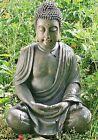 BUDDHA FIGUR 70cm FENG WETTERFEST SHUI STATUE SKULPTUR MODELL MÖNCH GARTEN BRAUN