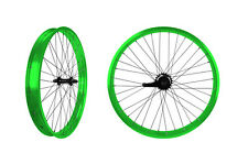 PUCK24 RIMS BICYCLE RIMS NEON GREEN CUSTOM BICYCLE  WHEELS BEACH CRUISER RIMS