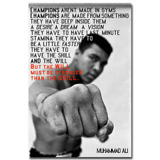 I WILL BE STORNGER Motivational Quote Silk Posters 24x36inch Ali Muhammad