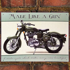 ROYAL ENFIELD BULLET MOTORBIKE METAL TIN WALL ART SIGN PLAQUE 30*40cm 50933
