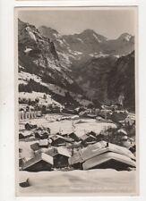 Wengen Mit Breithorn Switzerland Vintage RP Postcard 352b