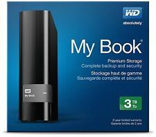 Western Digital My Book 3TB External USB 3.0 WDBFJK0030HBK-EESN Desktop HDD