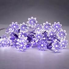 Viola Set Da 20 a Batteria LED FLOWER FAIRY stringa luci