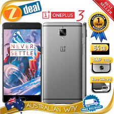 (BRAND NEW SEALED BOX) ONEPLUS 3 THREE 64GB DUAL SIM UNLOCKED PHONE 6GB RAM GREY