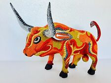 Bull Wood Carving Alebrije Sculpture Oaxaca Mexican Art Collection