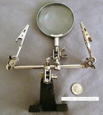 Silversmith soldering magnifying clamp helping 3rd hand