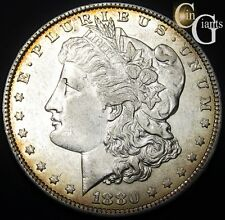1880-O Morgan Silver Dollar Gold Toned Uncirculated Coin New Orleans Mint S$1 ,