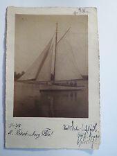 Berlin - Turnerschaft Alania - 1908 - Segelboot / Studentika