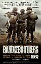 Autographed by 101st Band of Brothers veterans D-day Poster Malarkey McClung