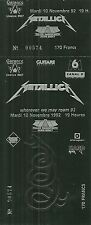RARE / TICKET - METALLICA : LIVE A PARIS BERCY FRANCE 1992 / COMME NEUF LIKE NEW