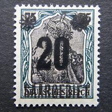 Germany 1921 Stamp MNH Germania Overprint Sarre Saar SAARGEBIET German Deutschla