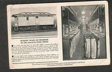 1933 pc Chicago Centuury Of Progress Exposition Railway Postal Car to Trail BC
