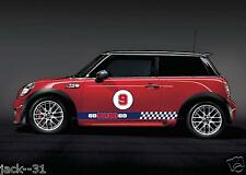 2 Side Stripe + 2 gumball MINI COOPER S DECAL STICKER KIT GO HABS GO