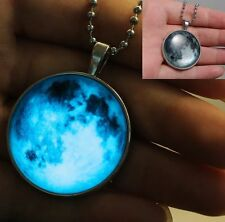 Steampunk Glow In The Dark Glowing Pendant Necklace Chains Charms Love Jewelry