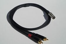 1 ft  Elite 7-Pin Din Male to 2-RCA Male Audio Cable For  Bang & Olufsen.