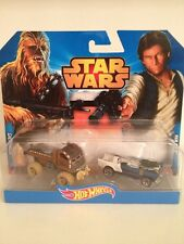 Star Wars Hans Solo + Chewbacca Hot Wheels Twin Pack NEW