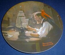 Knowles American Fine China THE SHIP BUILDER By Norman Rockwell