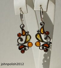Interested Baltic Amber Earrings with Silver 925
