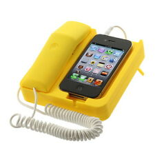 Yellow Telephone Retro Phone Corded Handset For iPhone 4 3G 3GS F7