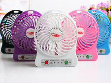Portable Rechargeable LED Light Fan Air Cooler Desk USB Mini Size Fan