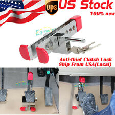 Brake Pedal Lock Security Car Auto Steel Clutch Safty Lock Anti-theft Upgraded