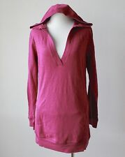 Old Navy V Neck Kangaroo Pocket Hooded Hoodie Sweatshirt Tunic Dress Shirt Top M