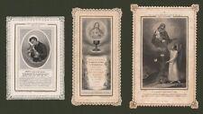 HOLY CARDS. Tre santini fine '800 di produzione francese. Ottima conservazione.