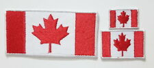 Canada Canadian Maple Leaf Flag set EMBROIDERED SEW IRON ON PATCH BADGE set