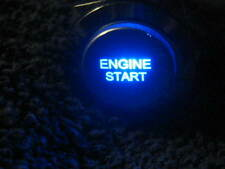 New 12V BLUE LED Momentary ENGINE START Metal Switch 19mm Push Button Lighted