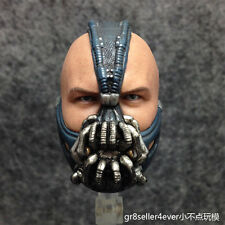 Custom 1/6 SCALA Tom Hardy TESTA SCOLPIRE per tdkr Bane Bash Fit corpo Hot Toys