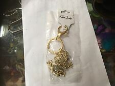 FROG GOLD TONE CRYSTAL BLING KEYRING KEY CHAIN GIFT FASHION NEW