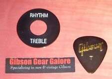 Gibson Les Paul Relic Switch Ring Toggle Washer Black White Guitar Parts Custom
