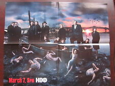 "The Sopranos 5th Season Poster 2004 HBO 18"" x 22"" James Gandolfini Original"