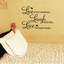 DIY Live Laugh Love Quote Vinyl Decal Removable Art Wall Sticker Decor Wallpaper