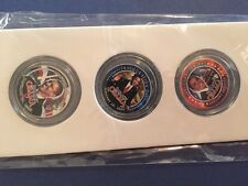 BARACK OBAMA #44 Presidential State Quarters 3-Coin 24K Gold Plate Colorized Set