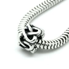 INTERLACE HEARTS-Celtic knot-Heart-European charm bead-Solid 925 sterling silver