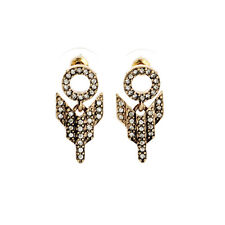 E1473 Fashion Earrings for Women Art Deco Pave Crystals Stud Arrow Drop Earrings
