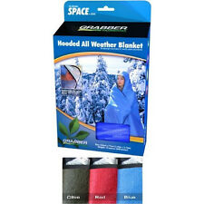 "Space Olive All Weather Blanket w/Hood - Camping, Outdoors, Survival, 60"" x 84"""