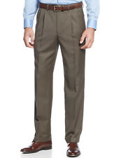 Ralph Lauren Men's Olive Brown Check 32x30 Cuffed , Pleated Dress Pant