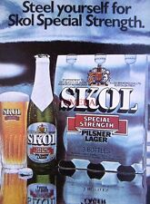 3 x 1960s 'SKOL' Lager Adverts #2 - Small Beer Print ADS