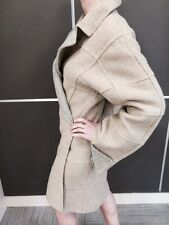FENDI  REVERSIBLE  FALL WINTER COAT BEIGE GRAY WOOL SZ L