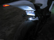 WHITE LED TAG LIGHT FENDER ELIMINATOR LED LICENSE PLATE LIGHTS MOTORCYCLE BIKE *